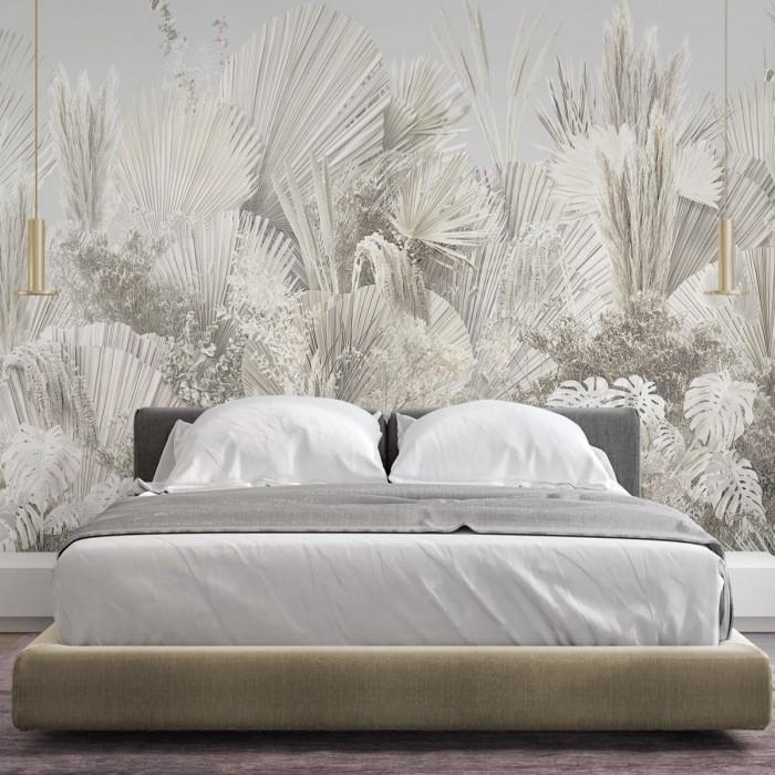Ibiza - Mural de Papel pared autoadhesivo ecológico sin pvc paredes dormitorio salon pasillo vegetal minimalismo calido lokoloko
