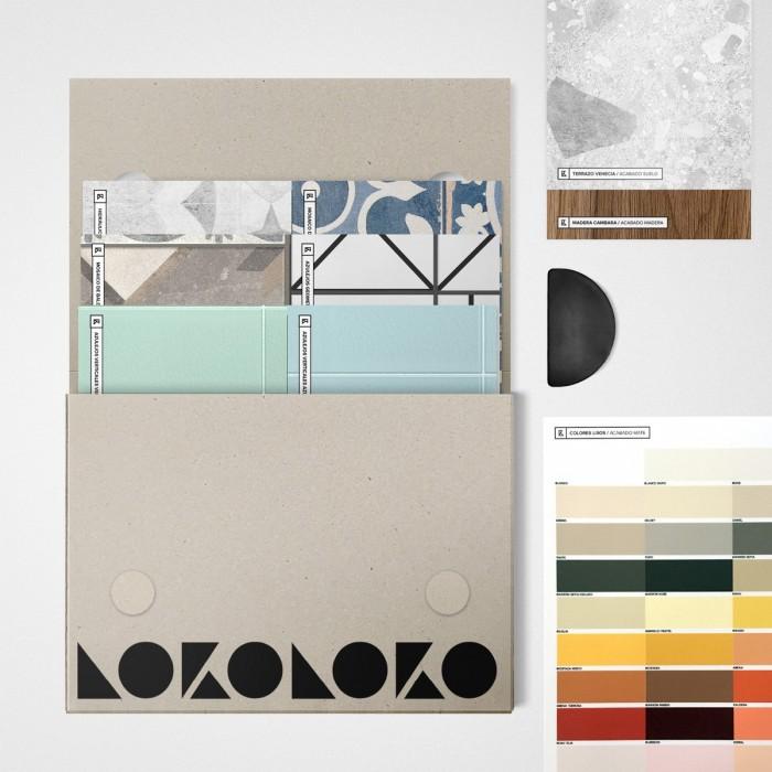 Ceramics samples folder - self-adhesive washable vinyl and wallpaper
