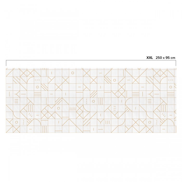 Bauhaus geometry camel tiles - ECO Wall Paper self-adhesive free pvc ecological. Hall, living, bedroom