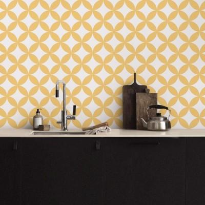 Yellow circles mosaic