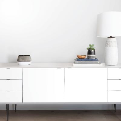White -  - washable self-adhesive opaque vynil for furniture and walls kitchen, bathroom, hall, living room, lokoloko