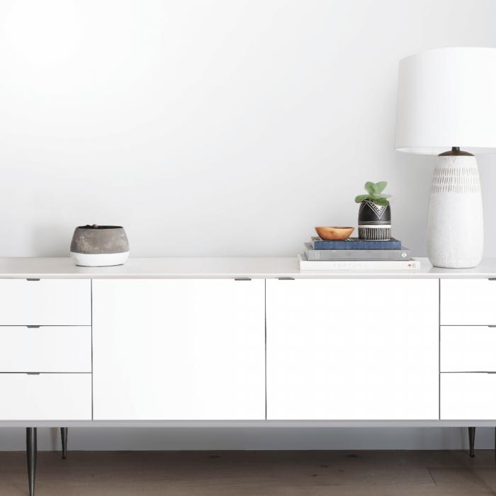 White - washable self-adhesive opaque vynil for furniture and walls kitchen, bathroom, hall, living room, lokoloko