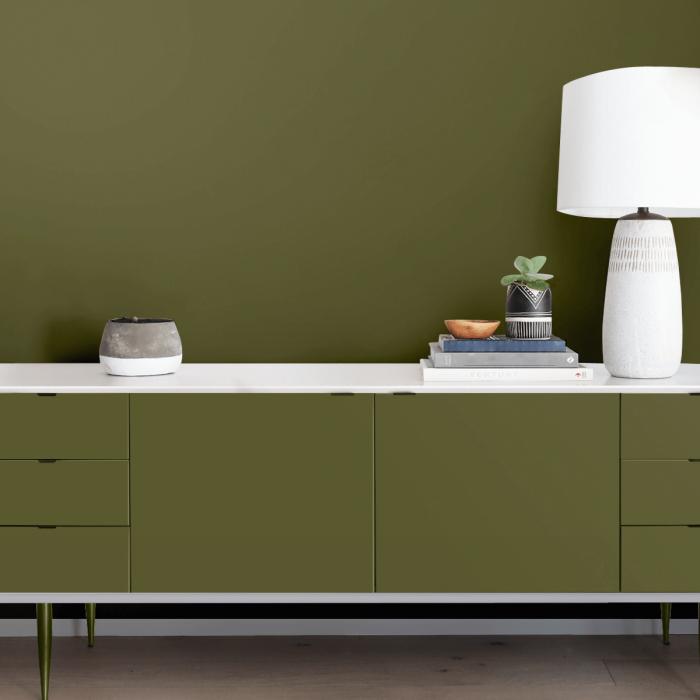 Olive Green - Plain colour opaque washable self-adhesive vinyl
