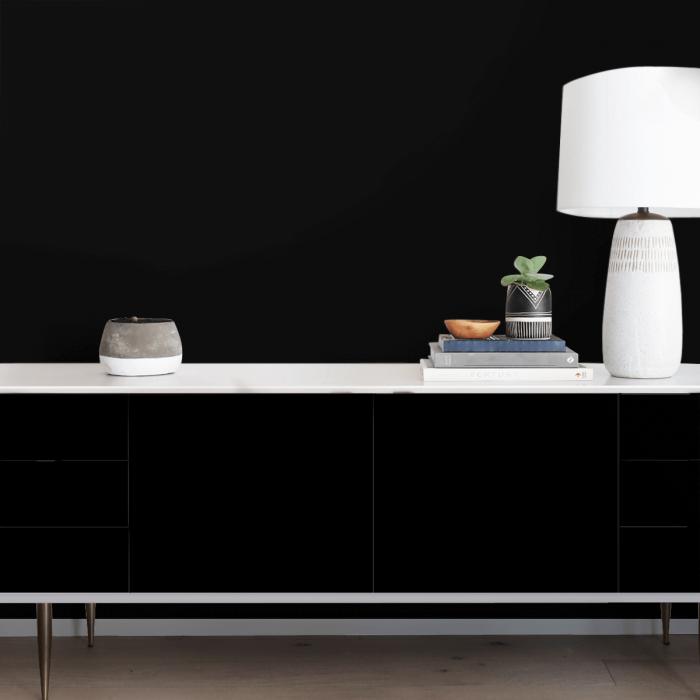 Black - Plain colour opaque washable self-adhesive vinyl