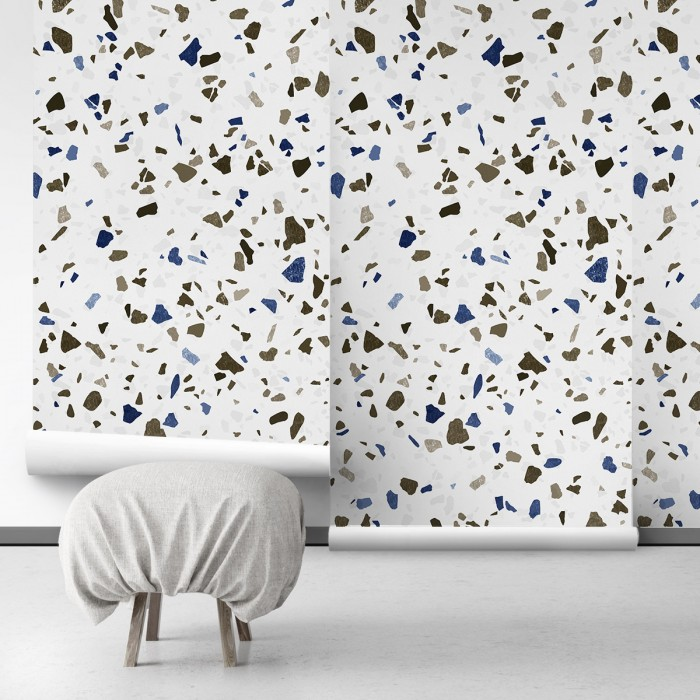 Neutral Terrazzo - ECO Wall Mural for decoration