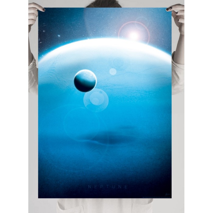 Poster photo print of the planet Neptune
