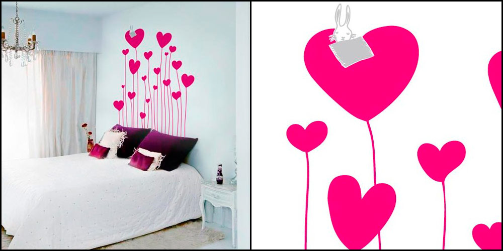 Vinilos decorativos de corazones y amor especial san valent n for Vinilos decorativos habitacion nina