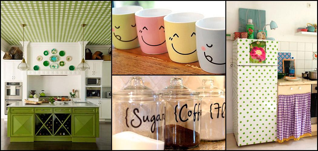 Vinilos adhesivos muy originales para decorar cocinas - Decorar cocina con vinilos ...