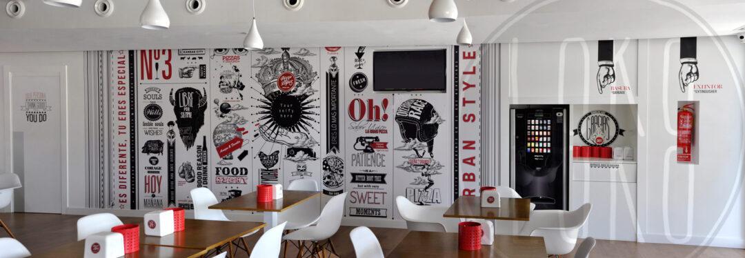 Vinilos adhesivos para la decoraci n integral de restaurantes for Diseno de interiores vinilos decorativos