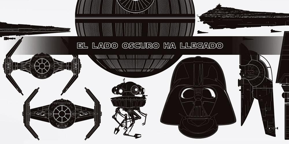 Los vinilos decorativos mas originales de personajes y naves de Star Wars