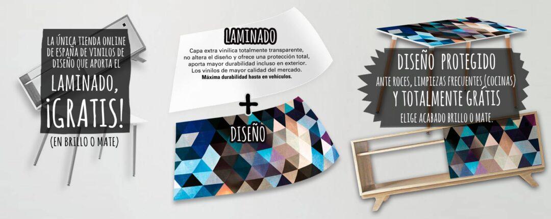 Diseños modernos para muebles con laminado protector