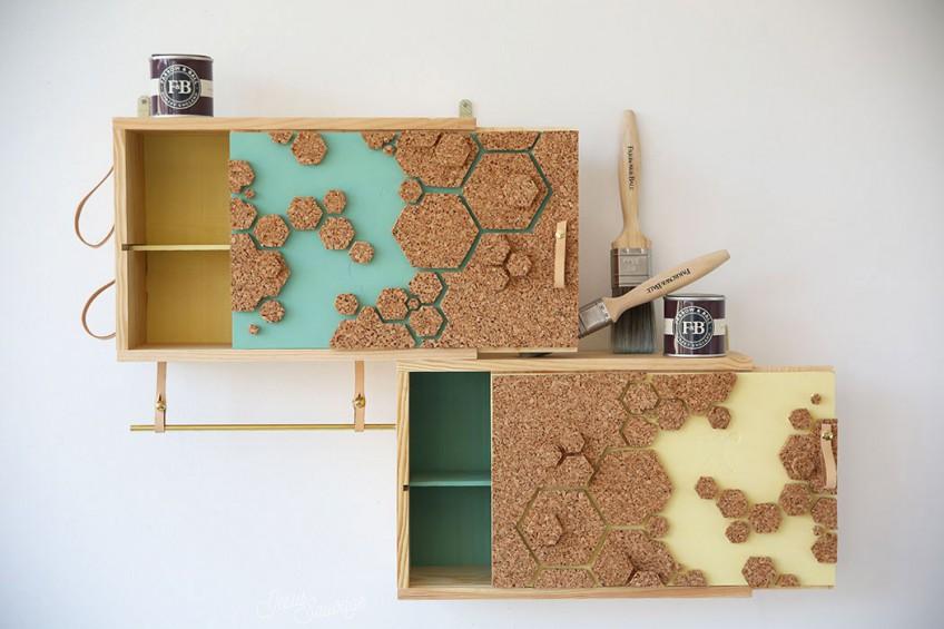 diy estantera con cajas de madera