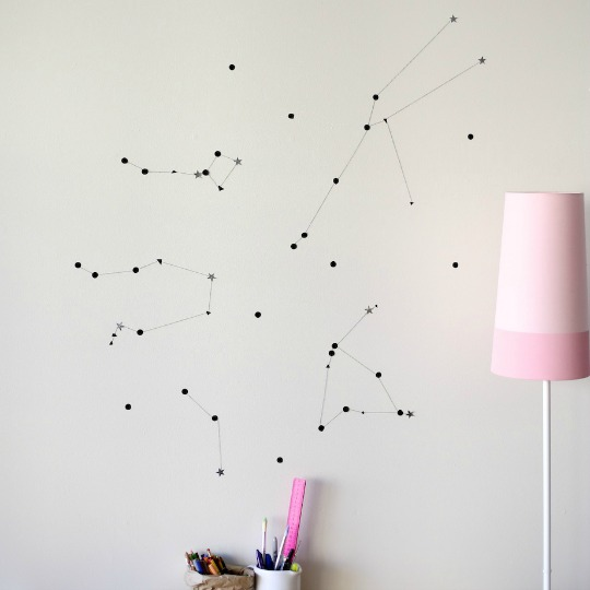 DIY. Constelaciones en la pared.