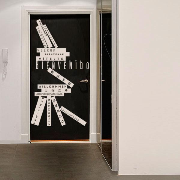 10 ideas de vinilos decorativos para puertas