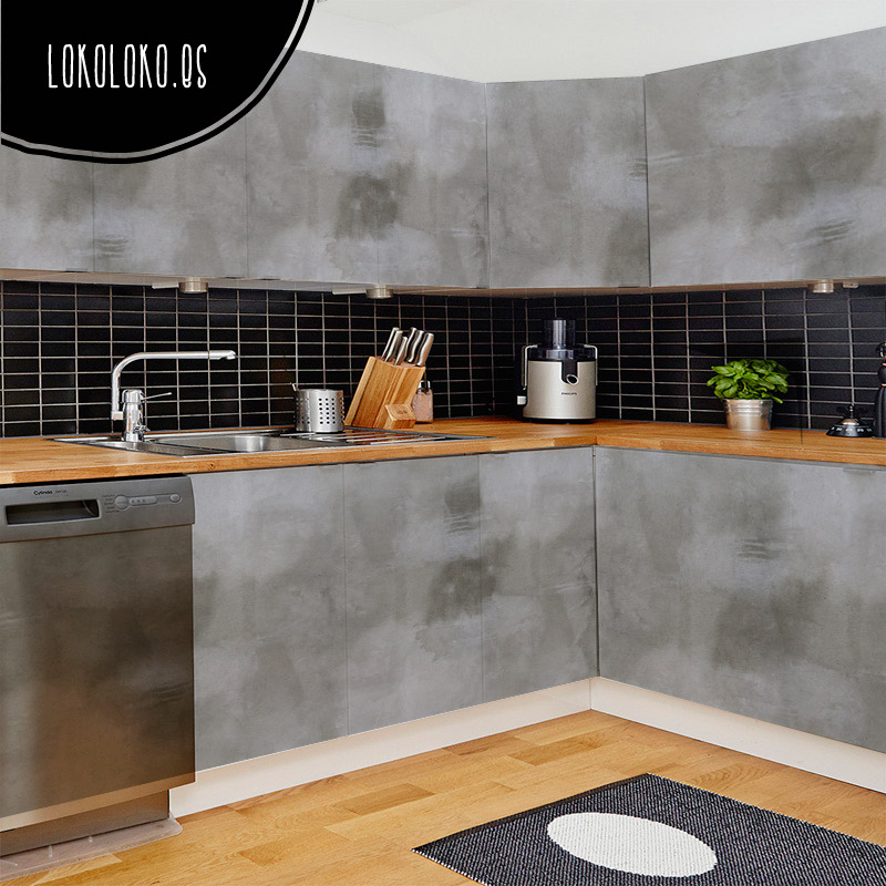 Vinilos de texturas naturales para tus muebles - Vinilo puerta cocina ...