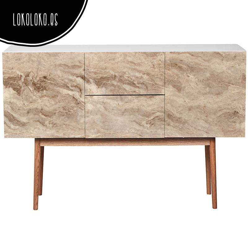 Vinilo para muebles de textura de mármol impresa