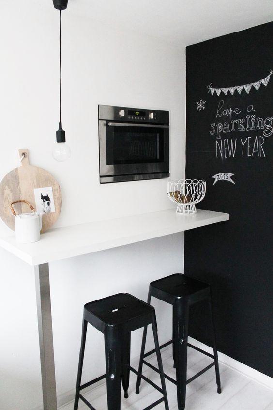 10 razones para decorar con vinilo de pizarra negra - Vinilo pizarra cocina ...