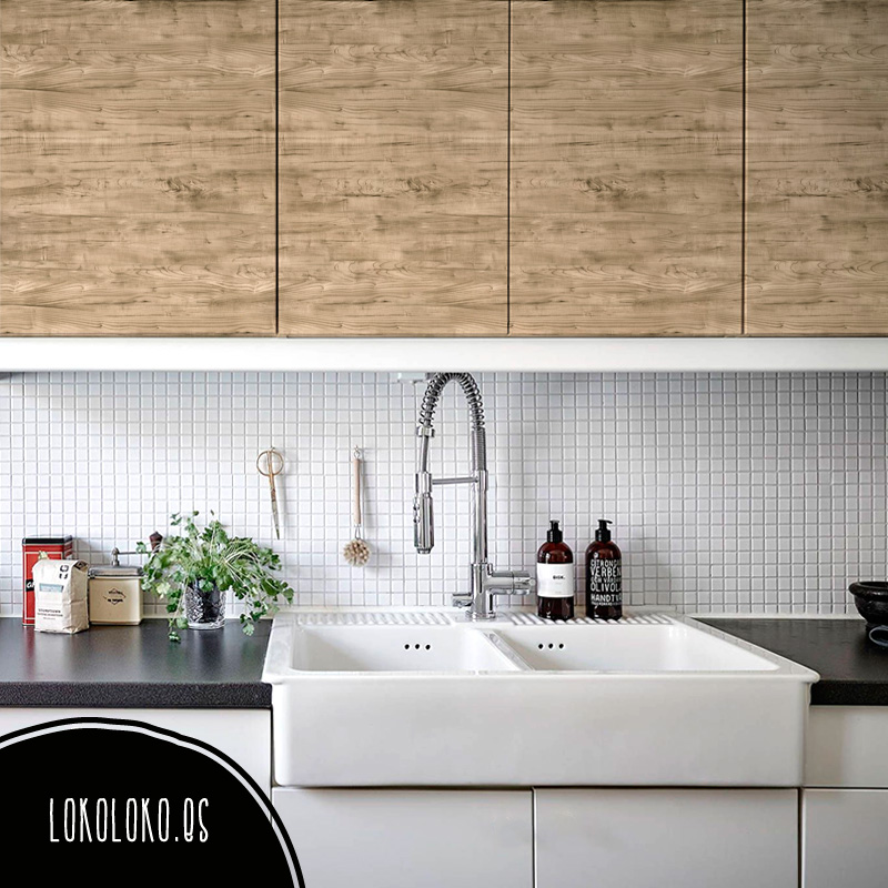 Vinilos de textura de madera para decorar tus muebles.