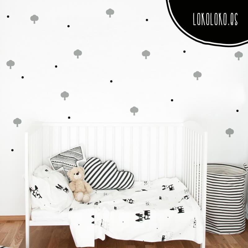 Decora tus paredes con vinilos adhesivos de formas naturales for Vinilos decorativos para recamaras