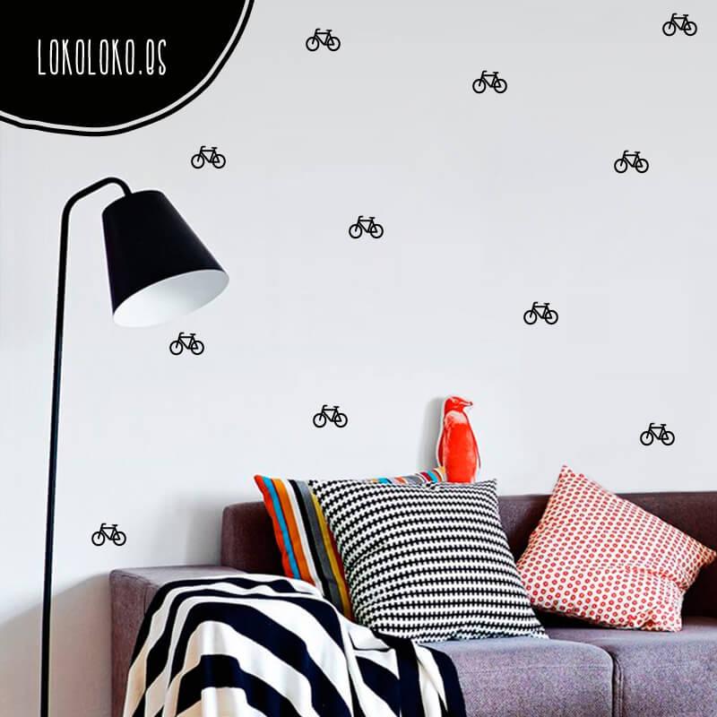 bicicletas para animarte a salir de cas y para decorar paredes y muebles de una with decorar paredes con vinilos adhesivos