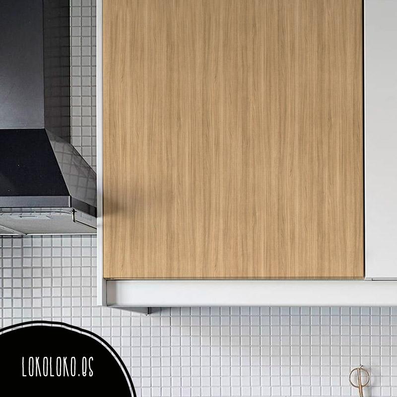 20 ideas para decorar tu cocina con vinilos de impresi n - Vinilos para puertas de madera ...