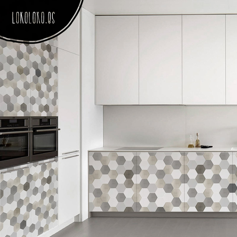 20 ideas para decorar tu cocina con vinilos de impresi n - Cocinas con vinilo ...