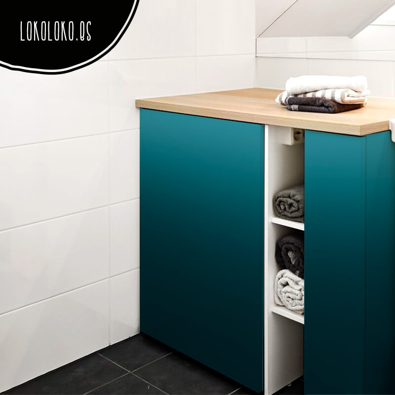 Colour blocks nueva colecci n de vinilos degradados for Muebles de bano azul