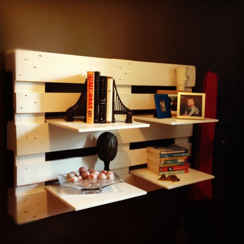 7 ideas diy de estanter as recicladas - Estanterias con palet ...