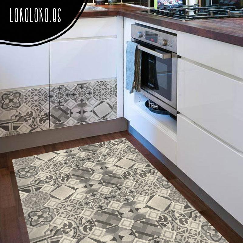 Decora tus suelos con vinilos de patrones cer micos for Alfombra vinilo cocina