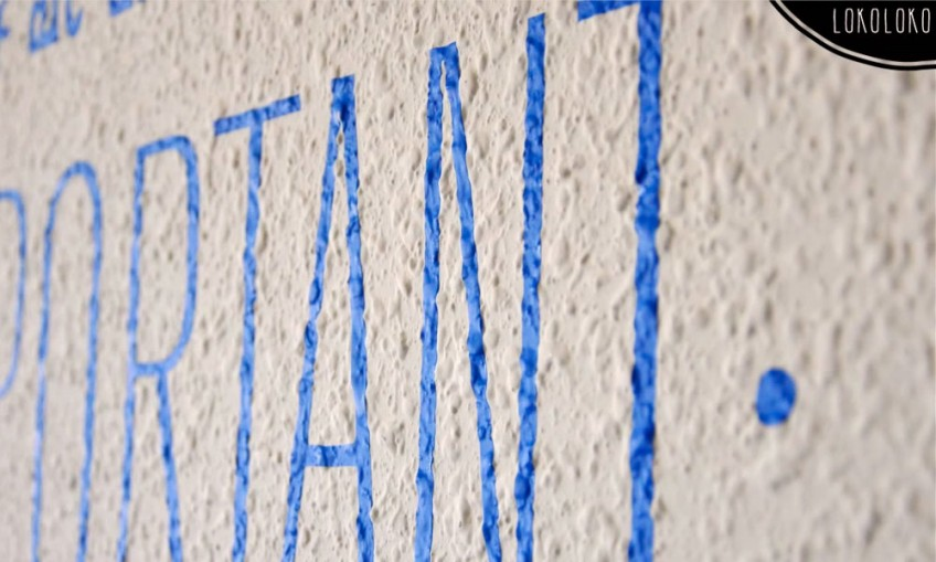 5 tipos de superficies para pegar vinilos decorativos for Vinilos pared gotele