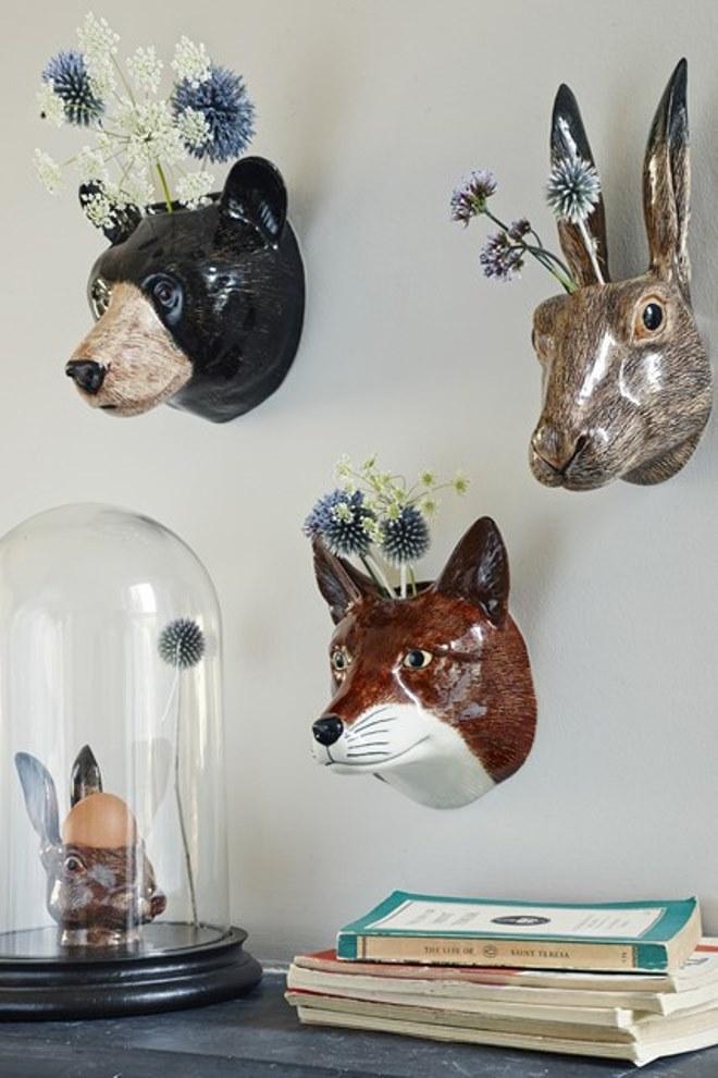 Cabezas de animales decorativas para colgar en tu pared