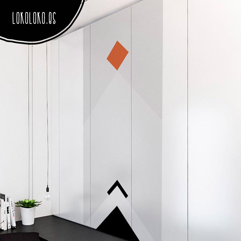 Ideas de dise o para forrar puertas de armario con vinilo - Vinilo para armarios ...