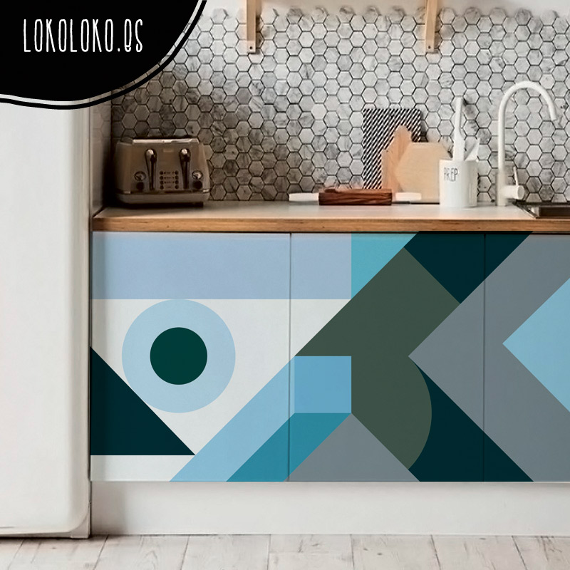Nuevos vinilos de dise o para la decoraci n de cocinas - Vinilo muebles cocina ...