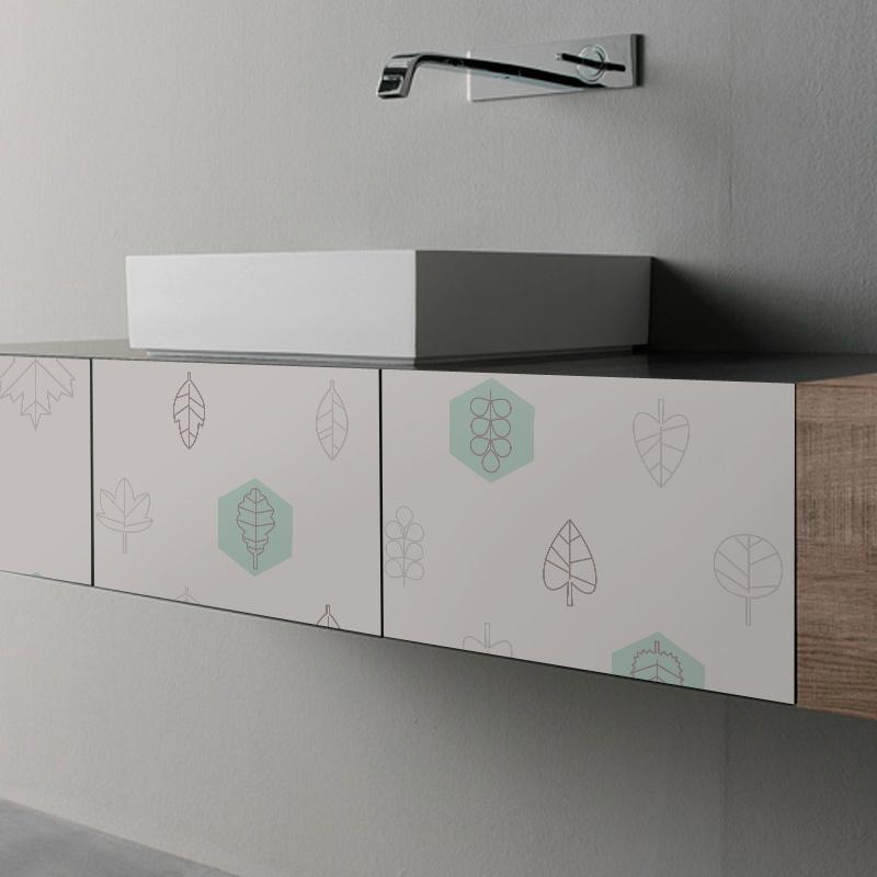 Vinilos para forrar muebles de cuartos de ba o - Vinilos para muebles ...