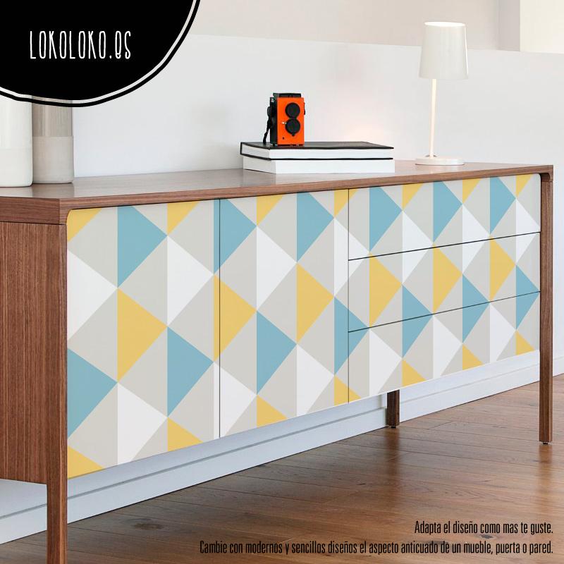 25 ideas para decorar tus muebles con vinilos de dise o for Pegatinas para muebles
