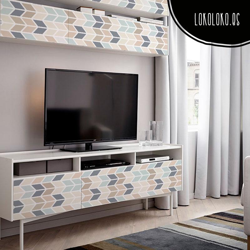 25 ideas para decorar tus muebles con vinilos de dise o - Vinilos decorativos para muebles de salon ...