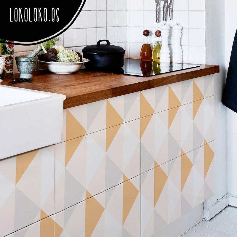 Nuevos vinilos de dise o para la decoraci n de cocinas for Esmalte para muebles de cocina