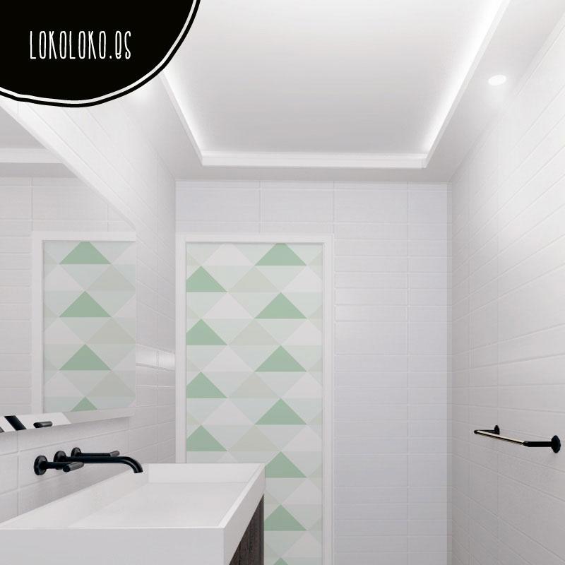 Vinilos para forrar muebles de cuartos de baño.
