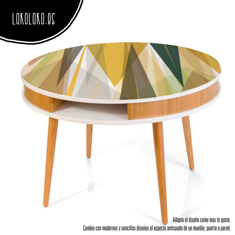 20 mesas para inspirarte en tu nueva decoraci n - Vinilos para mesas ...