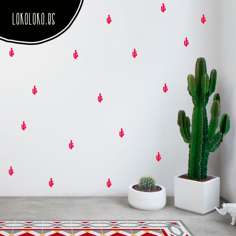 Ideas para decorar tu casas con cactus - Decoracion vinilo pared ...