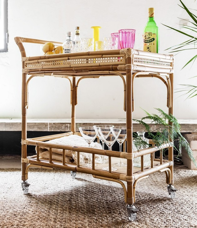 Ideas de decoraci n con materiales de mimbre y rattan - Muebles de mimbre en madrid ...