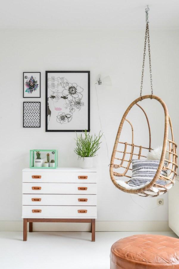 Ideas de decoraci n con materiales de mimbre y rattan - Sillas colgantes interior ...