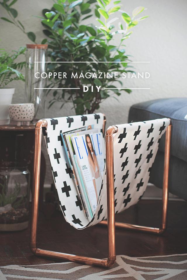 DIY: Crea un revistero de cobre y tela de manera fácil y low cost