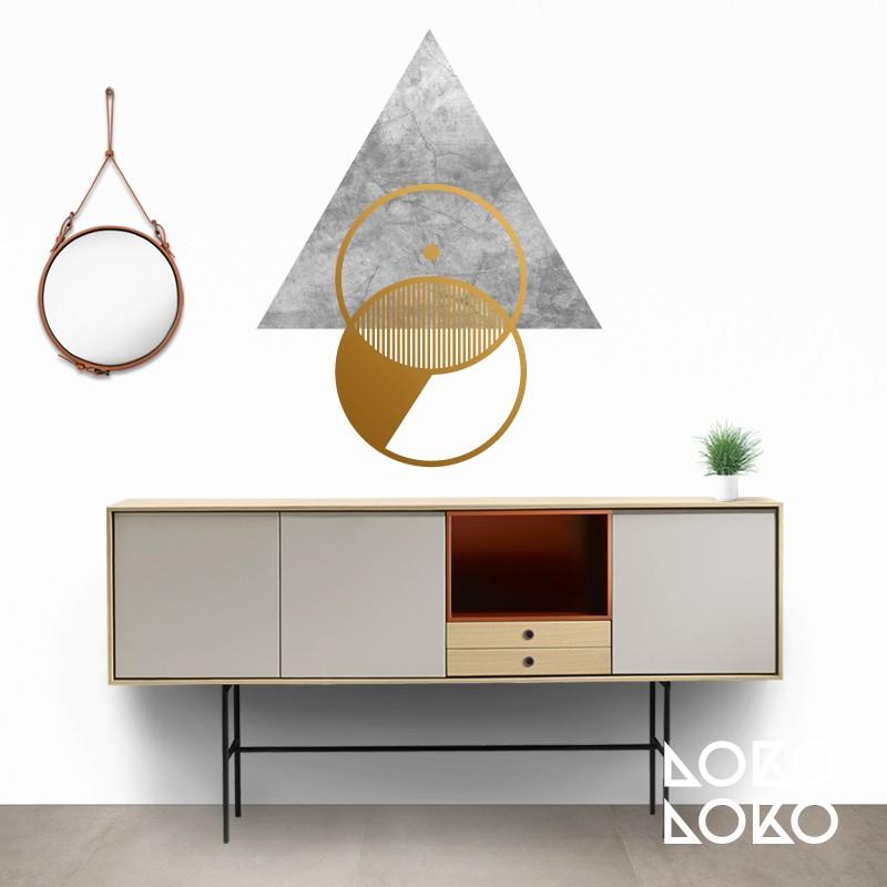 circulos-dorados-triangulo-textura-impresa