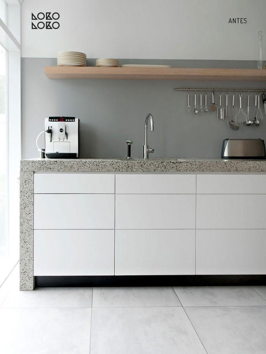 10 ideas con vinilo para transformar cocinas blancas - Modernizar cocina sin obras ...