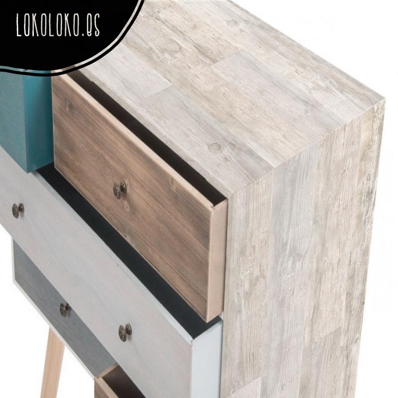 Aparador decorado con vinilo decorativo de madera
