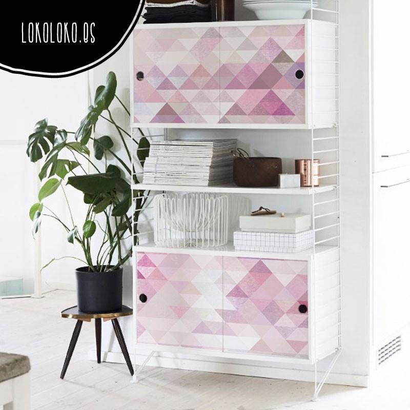 C mo usar el color berenjena en la decoraci n de paredes y muebles - Como decorar un mueble con papel pintado ...