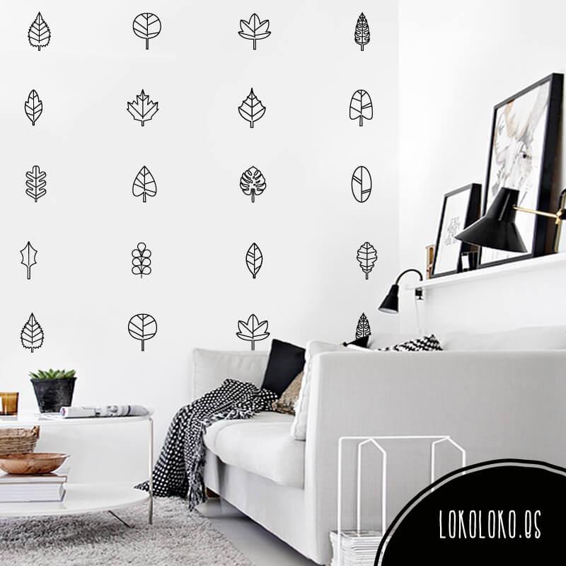 vinilos-hojas-lineas-pared-diseno-decoracion-botanica-pack