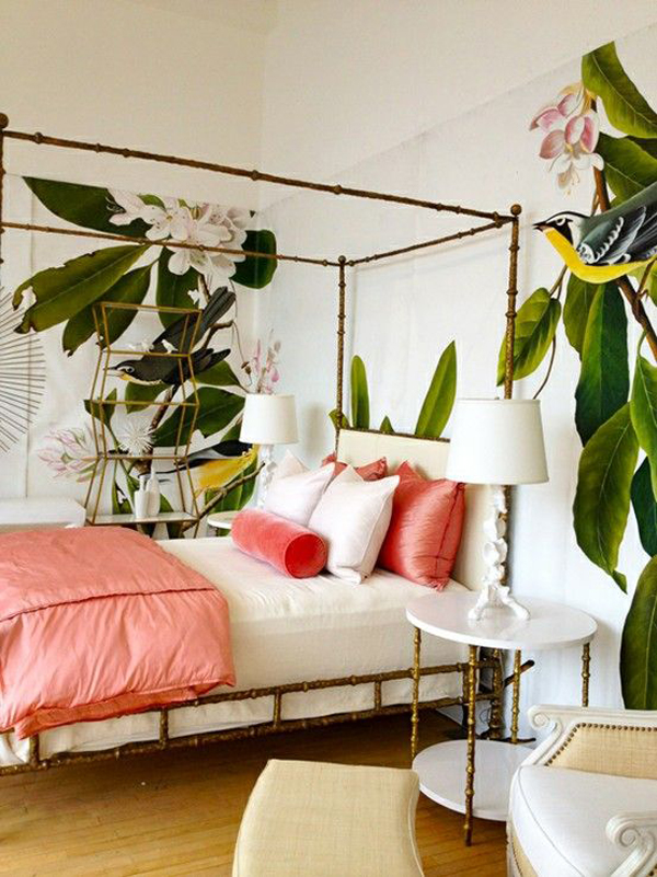 banana-leaf-bedroom-wallpaper