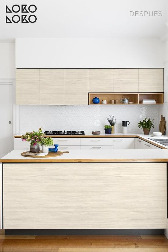 cocina-blanca-renovada-vinilo-imitacion-madera-nordica